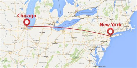 chicago new york map jet shuttle options between new york city and