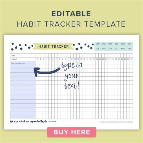 printable habit tracker 17 best images about printables on pinterest free