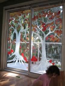Fall Window Decorations Mit Kindern Fensterbilder Im Herbst Basteln Und Malen