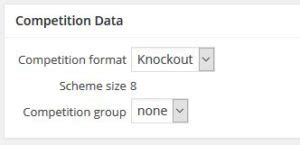 format date knockout knock out tournament sport plugins