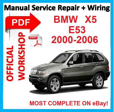 car manuals free online 2013 bmw x5 parking system official workshop manual service repair for bmw x5 e53 2000 2006 ebay