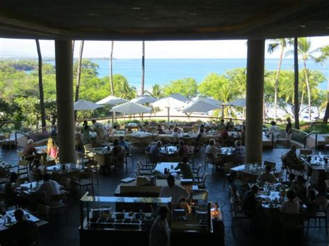 Looking Down On Breakfast Buffet Picture Of Hapuna Beach Hawaii Prince Hotel Buffet