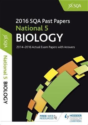 national 5 biology brightred 1906736324 national 5 biology 2016 17 sqa past papers with answers sqa 9781471891021 blackwell s