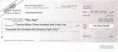 Release Letter Qatar Cheque Writing Printing Software For Qatar Banks