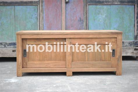 mobili giardino teak tavolini in teak massello porta tv