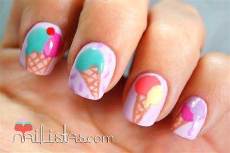 imagenes de uñas de acrilico en los pies u 241 as decoradas con helados nailistas u 241 as decoradas