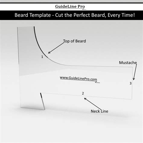 beard shaping tool guideline pro