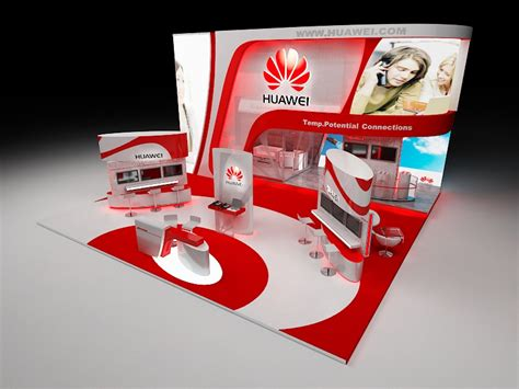 booth design proposal huawei booth proposal design by mohamed nashaat at
