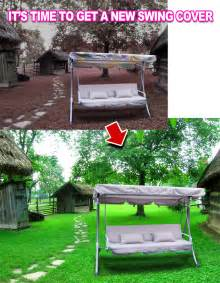 Patio Swing Canopy Cover New Replacement Patio Swing Chair Set Canopy Cover Top Ebay