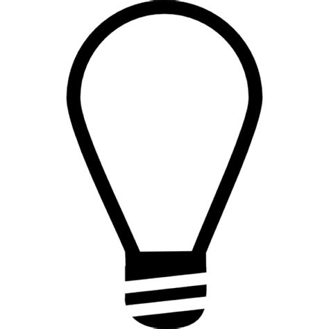 Light Bulb Outline Clip by Lightbulb On Outline Inside A Circle Icons Free