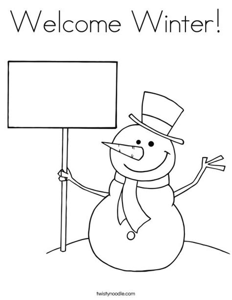 welcome coloring pages printable welcome winter coloring page twisty noodle