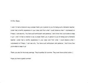 Simple Thank You Note To Kindergarten 10 Thank You Notes For Teachers Free Sle Exle Format Free Premium Templates