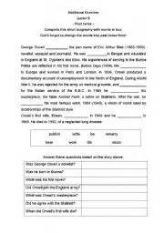 Free Bio Template Fill In Blank by Teaching Worksheets Biographies