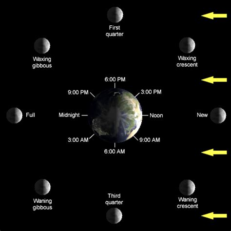 lunar phases diagram how can we see the sun and the moon at the same time