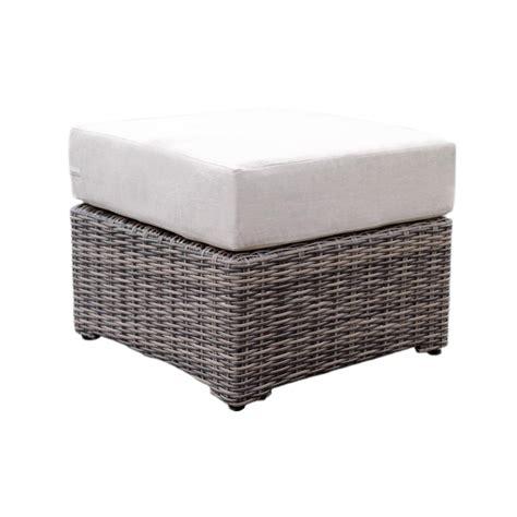Patio Ottoman Cushions Hton Bay Lemon Grove Wicker Outdoor Ottoman With Surplus Cushion 2 Pack D11230 O The
