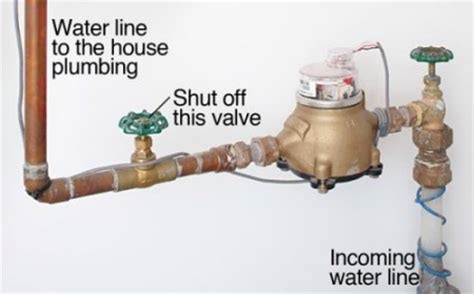 how to turn off water to house how to shut off utilities in an emergency