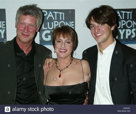 patti lupone with her husband matt johnson and son josh attending the stock photo royalty free