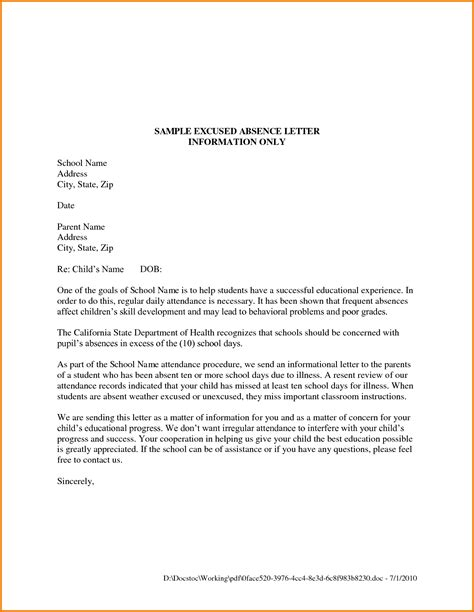Letter Format For School formal letter format for school letters