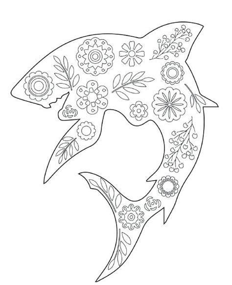 shark coloring pages games shark coloring sheet floral shark coloring page shark
