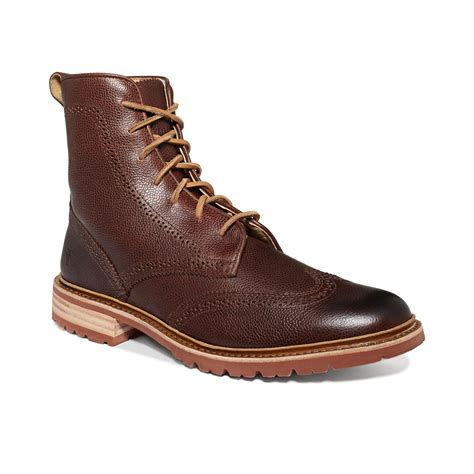 mens wingtip boots frye lug wingtip boots in brown for brown