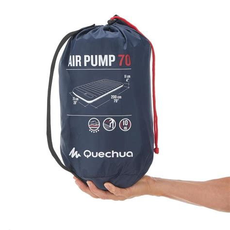 luchtbed quechua quechua luchtbed air pump 70 1 persoon blauw decathlon nl
