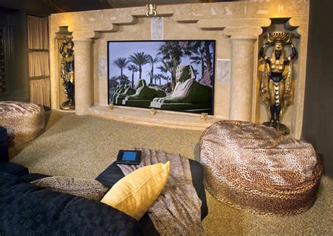 egyptian style home decor egyptian theater mediterranean home theater boise