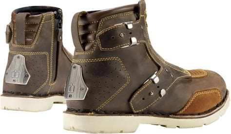 womens brown moto boots icon 1000 el bajo women s motorcycle boot oiled brown