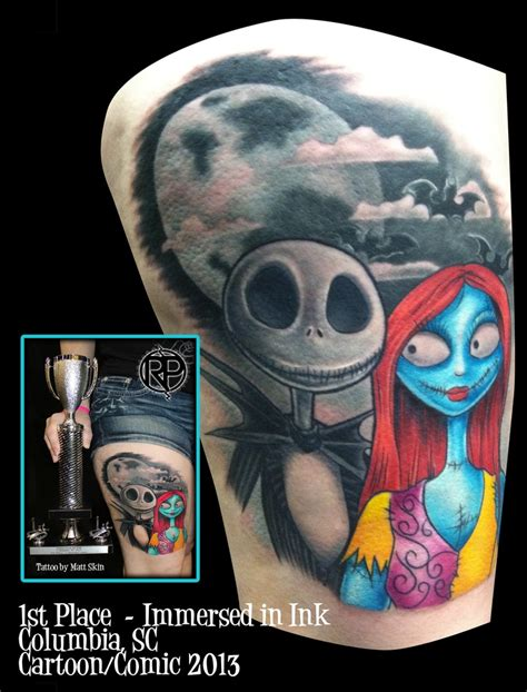 tattoo nightmare and sally nightmare before 1st