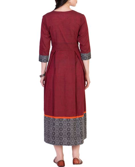 maroon pleated midi dress by ans the secret label