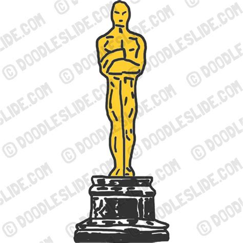 How To Make An Oscar Trophy Out Of Paper - oscar award trophy clipart free oscar statue