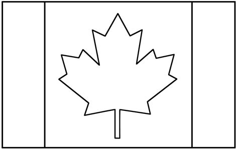 graphic templates for pages canadian flag coloring pages free large images