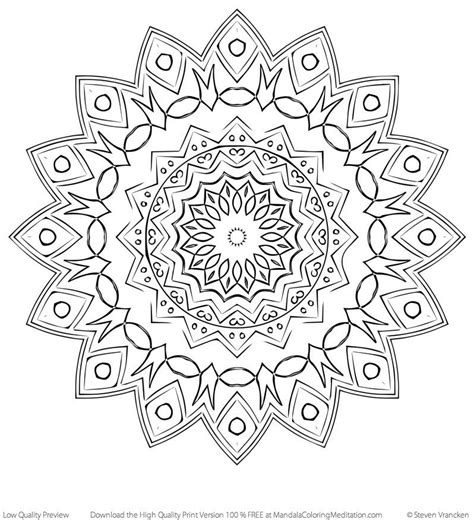 intermediate mandala coloring pages coloring page printable coloring pages for part 6503