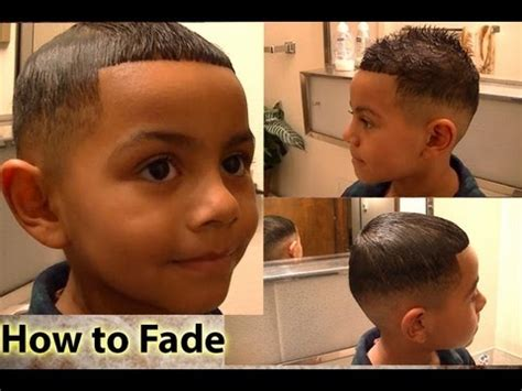 toddler with hi top fade haircut how to fade tutorial for cutting hair at home youtube