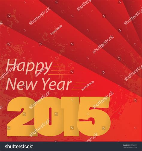 new year 2015 poster design happy new year 2015 poster template stock vector 217753933