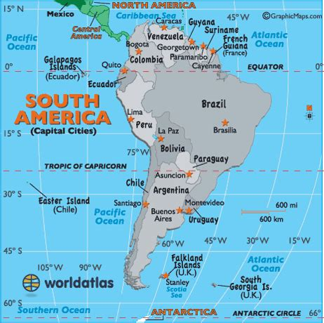 south america map with states and capitals south america capital map