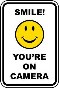 smile you re on camera sign f8065 by safetysign com