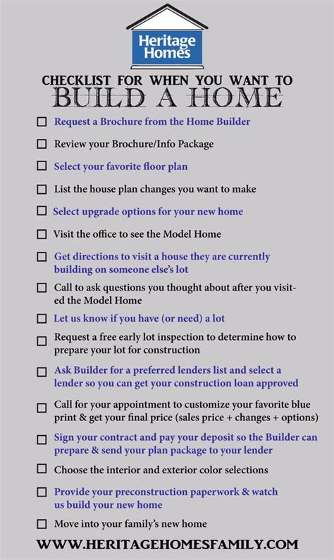 steps to building a house checklist of what to do when you want to build a home the steps you should take in the home