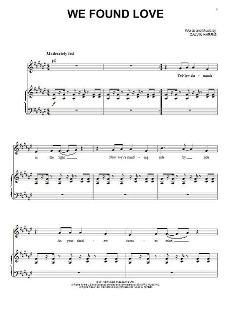 when we have love lyrics we found love sheet music direct