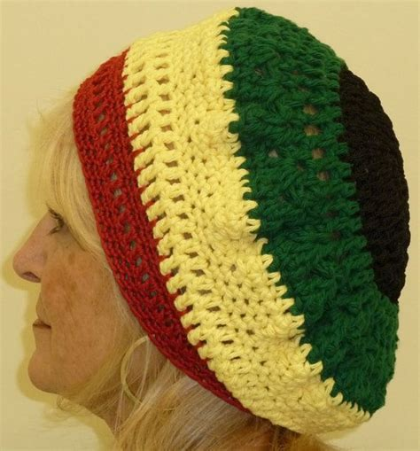 yellow hat pattern rasta crochet hat unique original by hatsbyanne1942 on