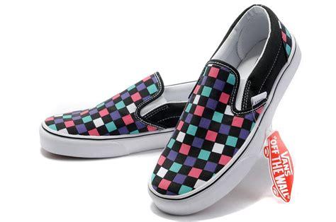 colorful vans vans washed checker slip on colorful men013 52 89