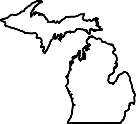 Outline Of Michigan State by Michigan Map Outline Clip Vector Clip Royalty Clipart Best Clipart Best