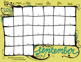 September 2014 Calendar Template by 5 Best Images Of Free Printable Monthly Calendar Free