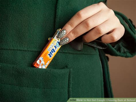 how to a not to chew on things how to not get chewing gum at school 9 steps