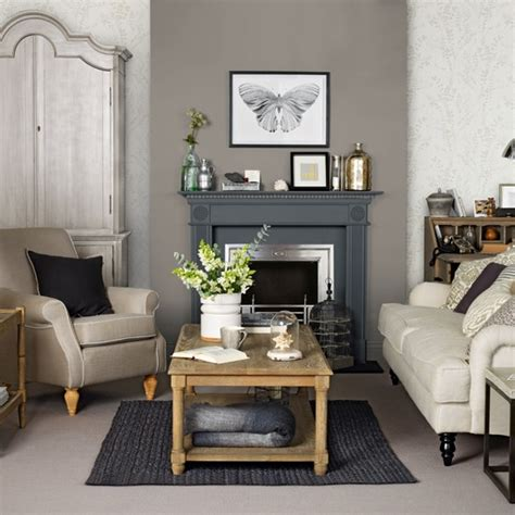 Living Room With Grey by Brown And Grey Living Room Housetohome Co Uk