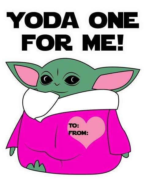 baby yoda valentines day cards print  cut enzas