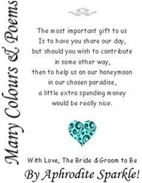 poems to put in wedding invites asking for money wishing well wedding wedding shower invitations and