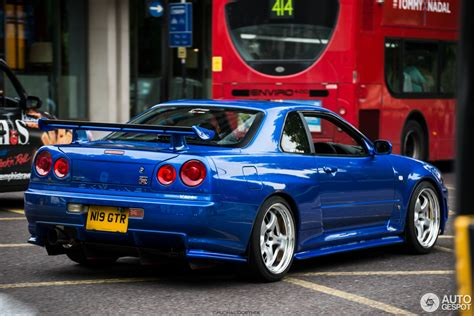 nissan skyline 2015 blue nissan skyline r34 gt r v spec 28 october 2015 autogespot