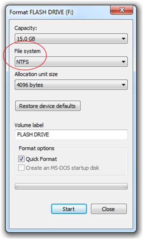 format file size limit fix file is too large for destination file system