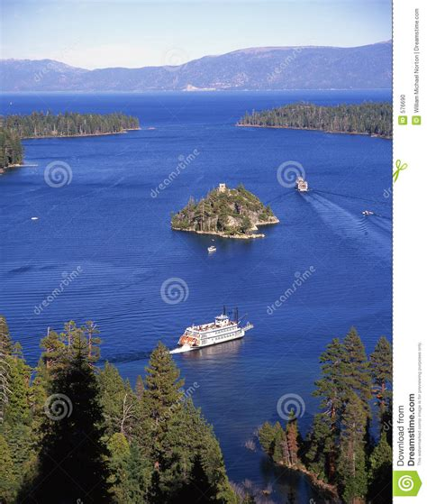 boat tour emerald bay emerald bay tour boats lake tahoe stock photo image
