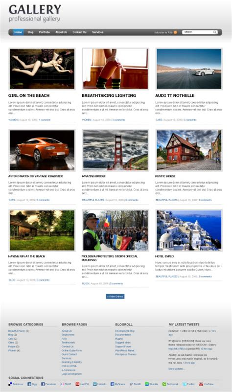themes gallery wordpress free gallery premium wordpress theme wpzoom